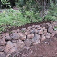 Murete de piedra natural