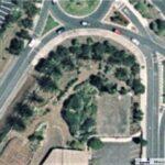 Vista aérea del antiguo jardín (2004)