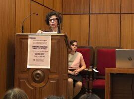 Dra Herrera, directora del INULAB premios IUEM 8 de marzo 2020