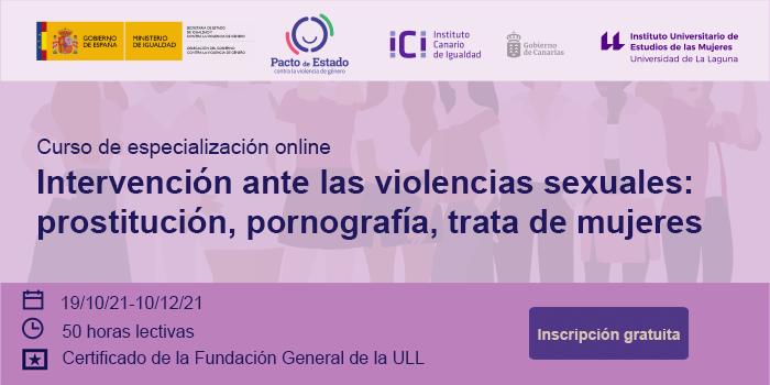 curso Intervención ante las violencias sexuales