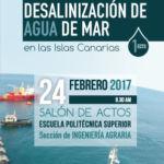 Portada del folleto de este taller sobre desalinización.