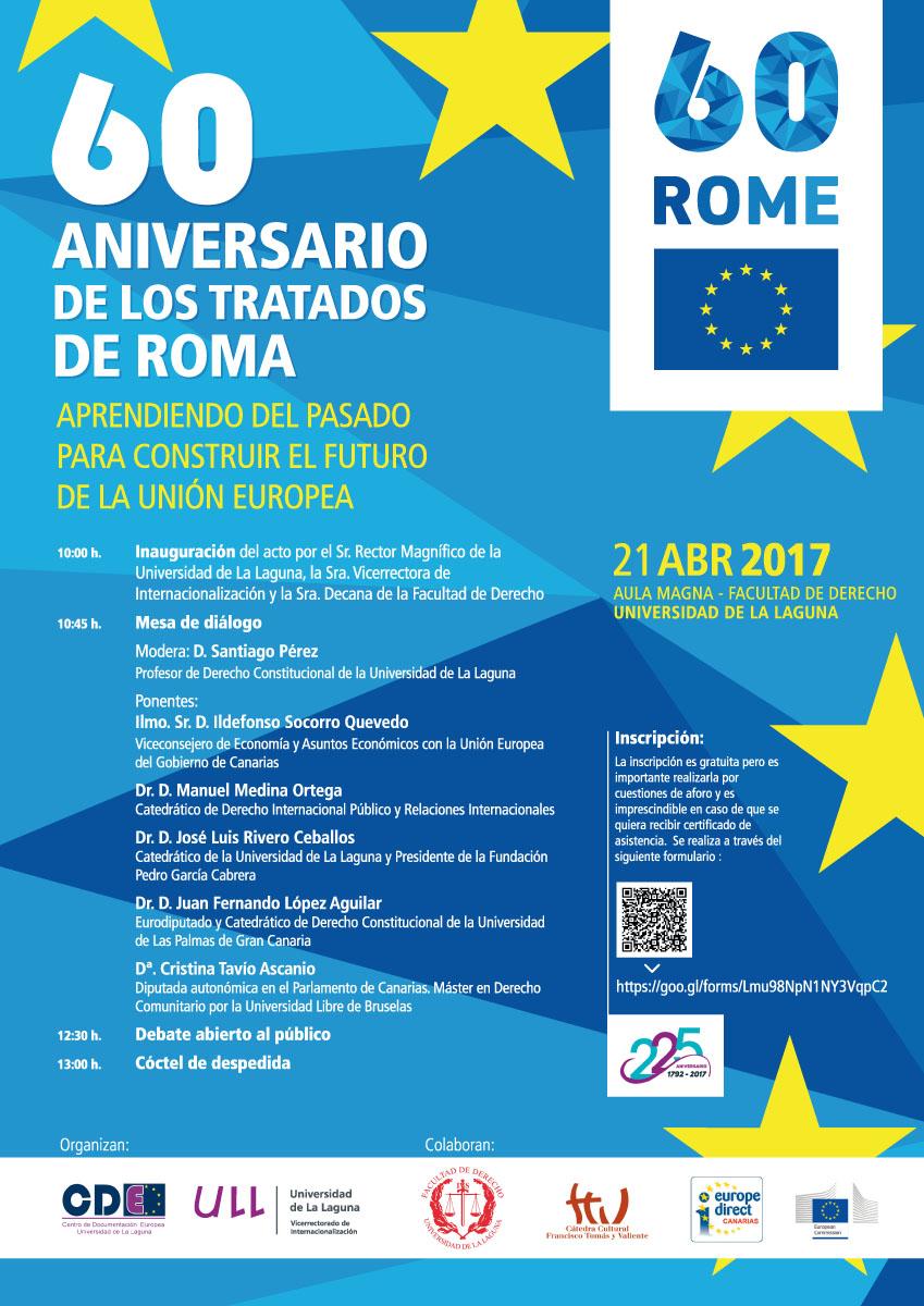 Cartel del 60 aniversario de los Tratados de Roma