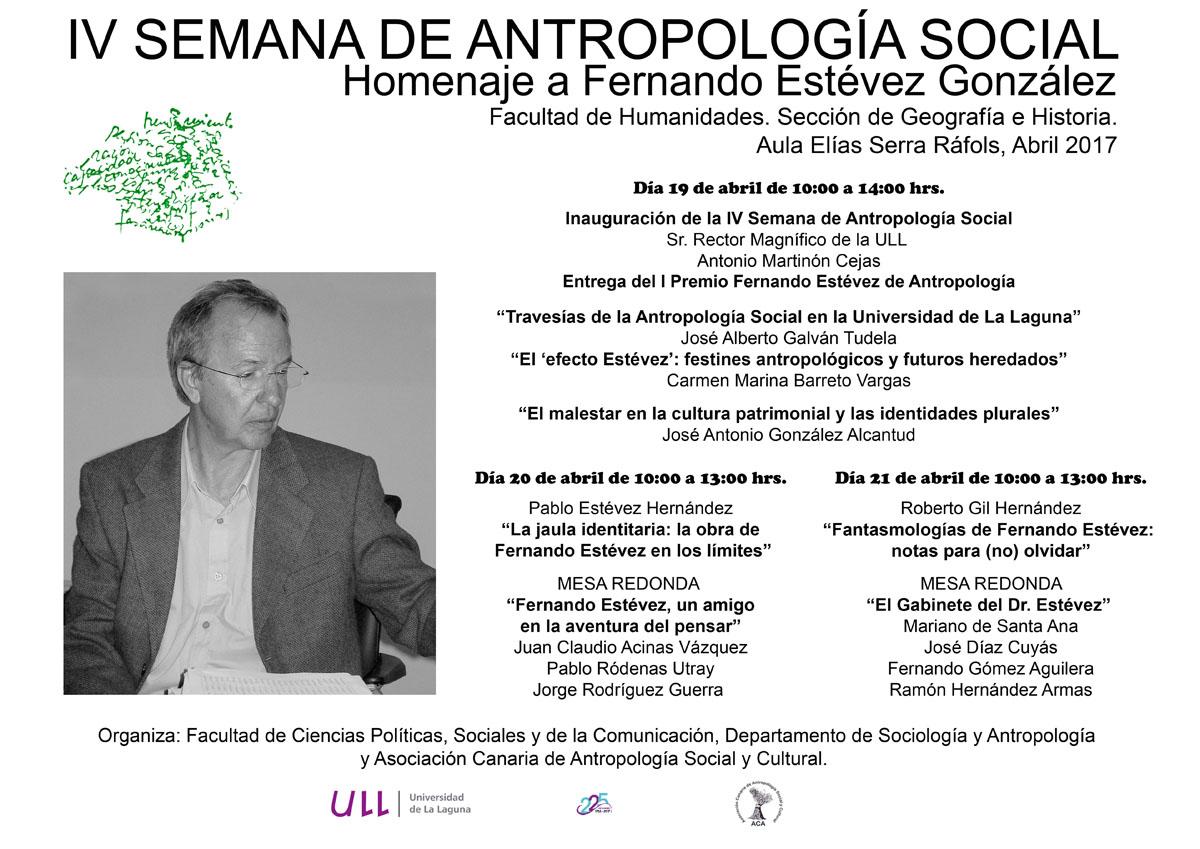 Cartel de este homenaje a Fernando Estévez