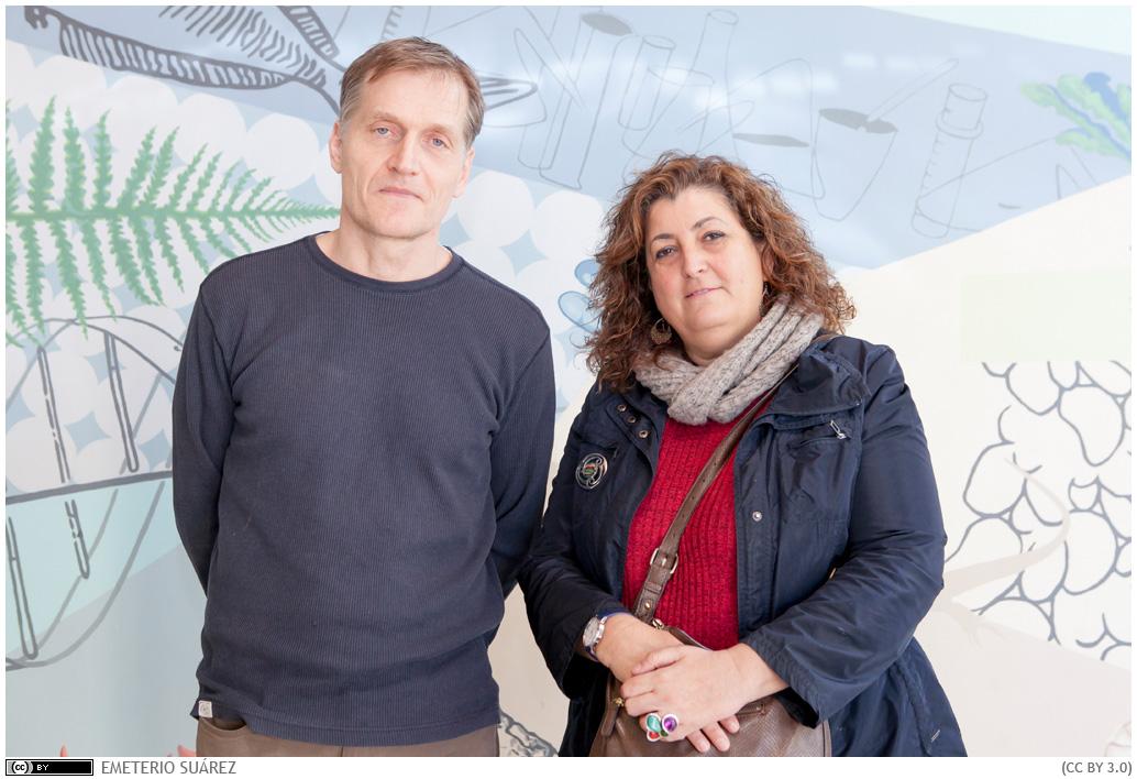Ivar Lund y Covadonga Rodríguez durante la entrevista realizada en la Sección de Biología.