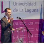El Rey durante su intervención en la Universidad de La Laguna