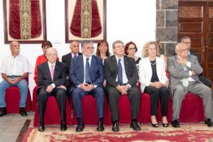 Ex-rectores homenajeados durante el acto