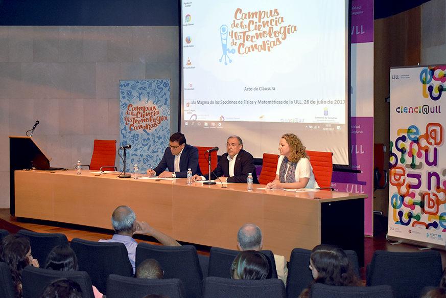 Clausurada la edición 2017 del Campus de la Ciencia y la Tecnología de Canarias
