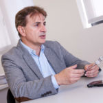 Jose Manuel Rodriguez durante la entrevista en las oficinas de Wooptix.