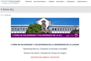 Captura de la web que promueve el compromiso social universitario.