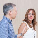 Beatriz Simón y Guillermo Rodríguez, técnicos de la unidad gestión del casco histórico adscrita a la Gerencia de Urbanismo del Ayuntamiento de La Laguna