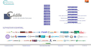 Captura de pantalla de la portada de la web de Çédille.