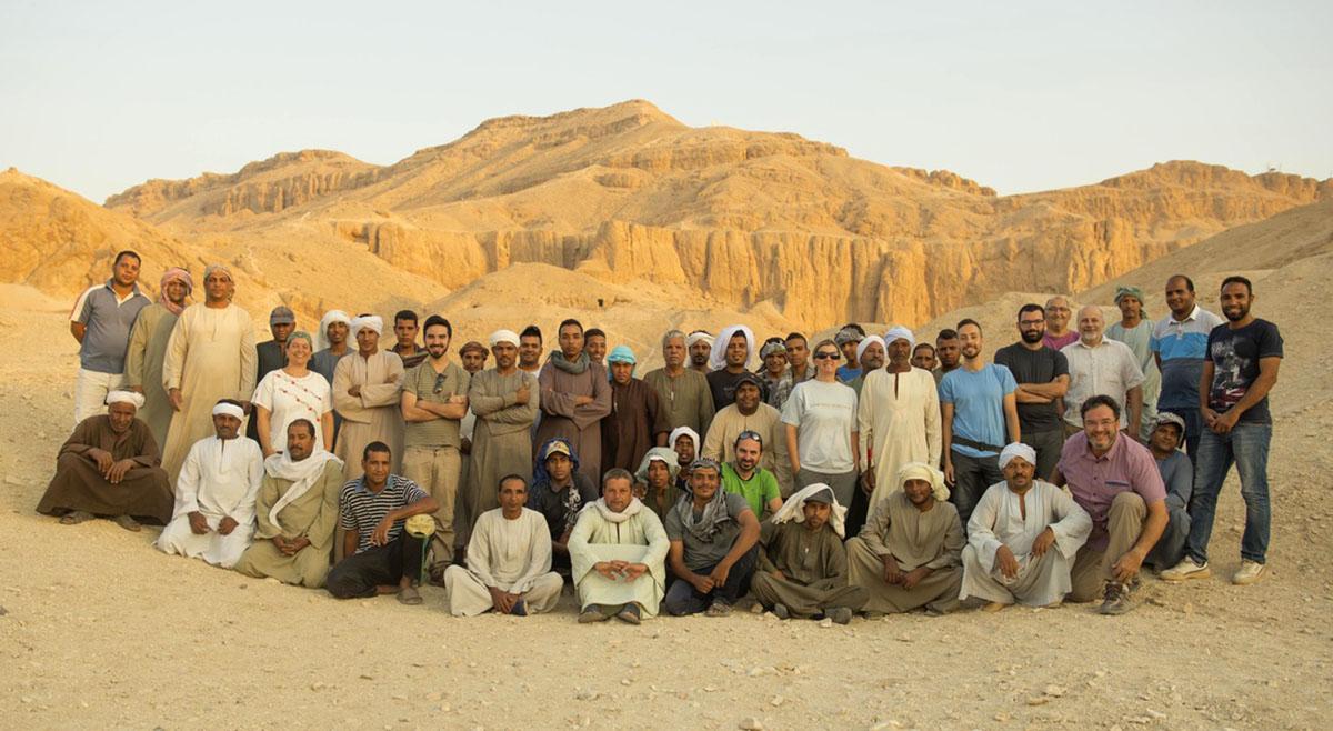 Campaña de excavaciones ULL en Egipto