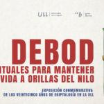 Cartel de la exposición sobre el Templo de Debod