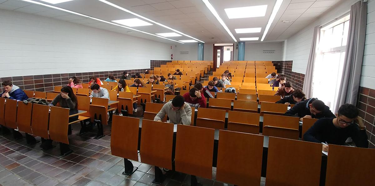 Imagen de la prueba de la Olimpiada Matemática Española celebrada en la ULL