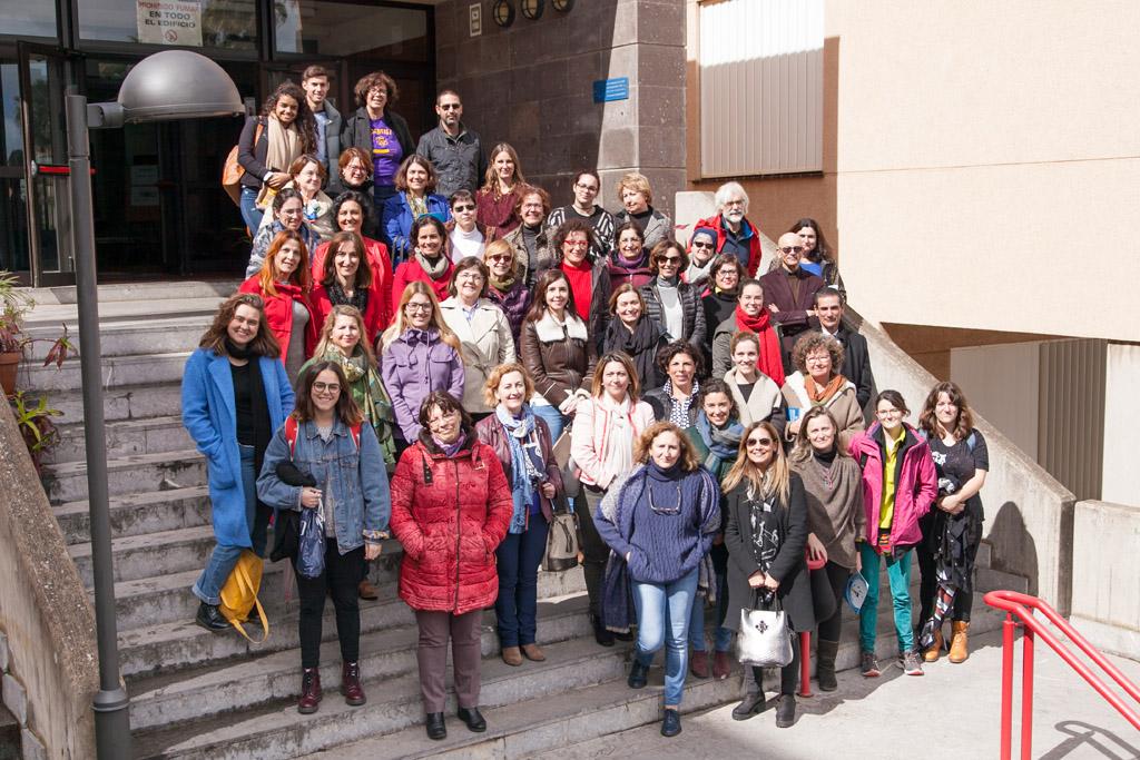 Foto de familia de mujeres cinetíficas de la ULL