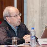 Javier Echeverría durante su conferencia.