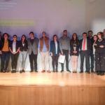 """Foto de familia de todos los finalistas del certamen """"Mi tesis en 5 minutos"""""""