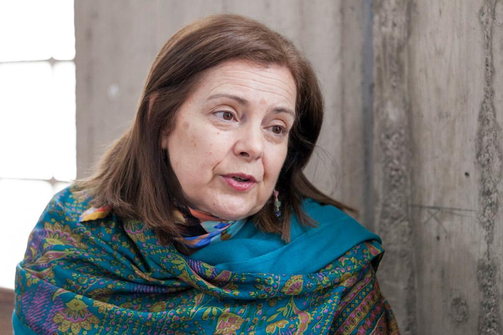 Magis Iglesias, entrevistada en la Facultad de Derecho de la ULL