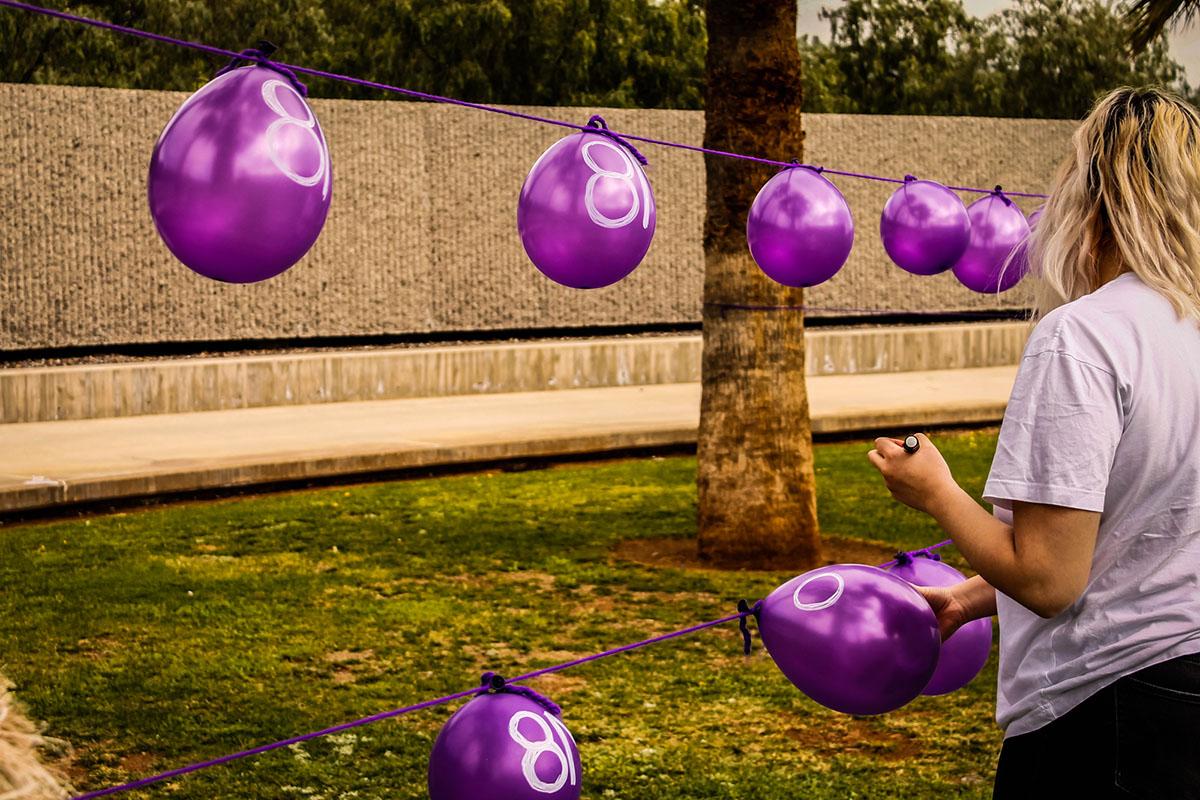 Imagen de los actos del Día de la Mujer en Bellas Artes