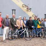 Autoridades presentes en el acto de presentación de Biciabril 2018