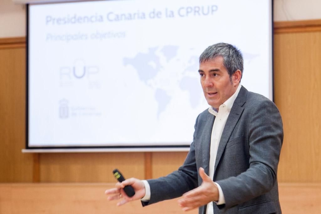 Fernando Clavijo en la ULL
