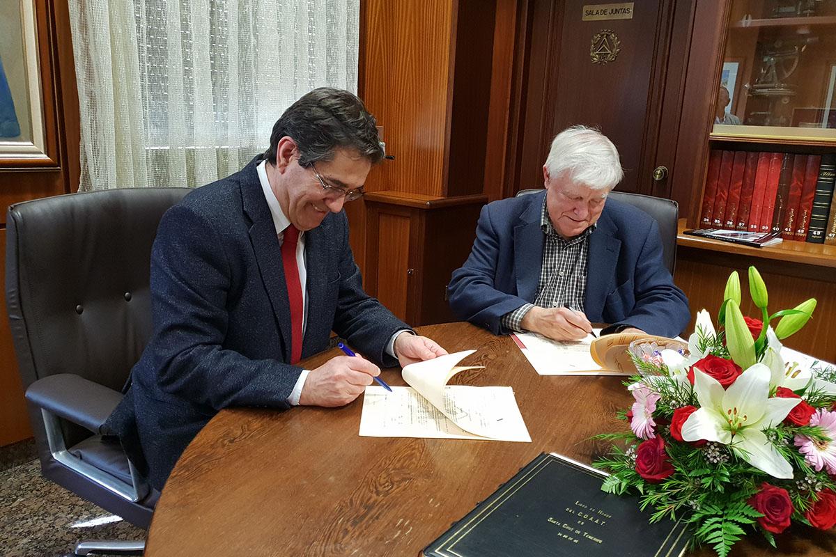 La ULL firma un convenio de colaboración con el Colegio Oficial de Aparajedores y Arquitectos Técnicos