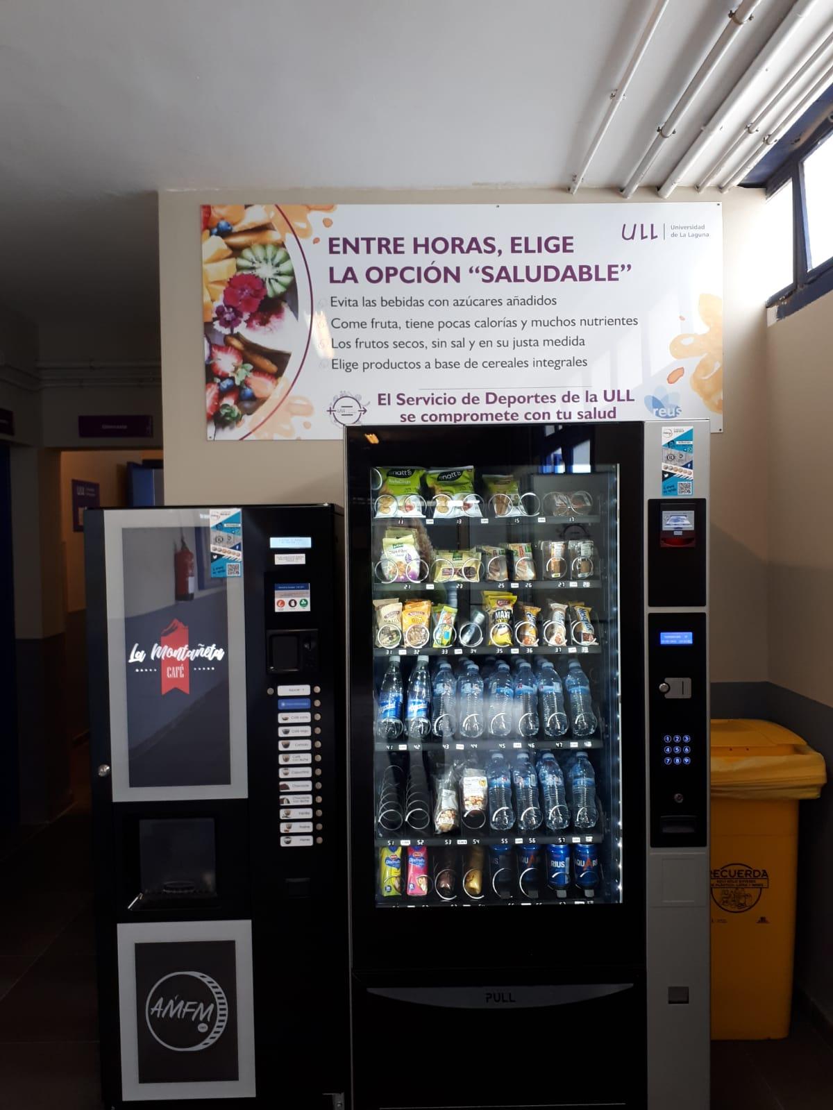 Máquina expendedora en el Servicio de Deportes de la ULL