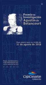 Cartel de Premio de Investigación Agustín de Betancourt