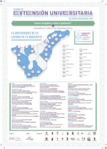Cartel de los cursos de extensión en ayuntamientos de Tenerife