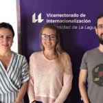 Carmen Rubio, Priscila López y Carlos Trujillo, tras la reunión entre el vicerrectorado y la asociación AEGEE