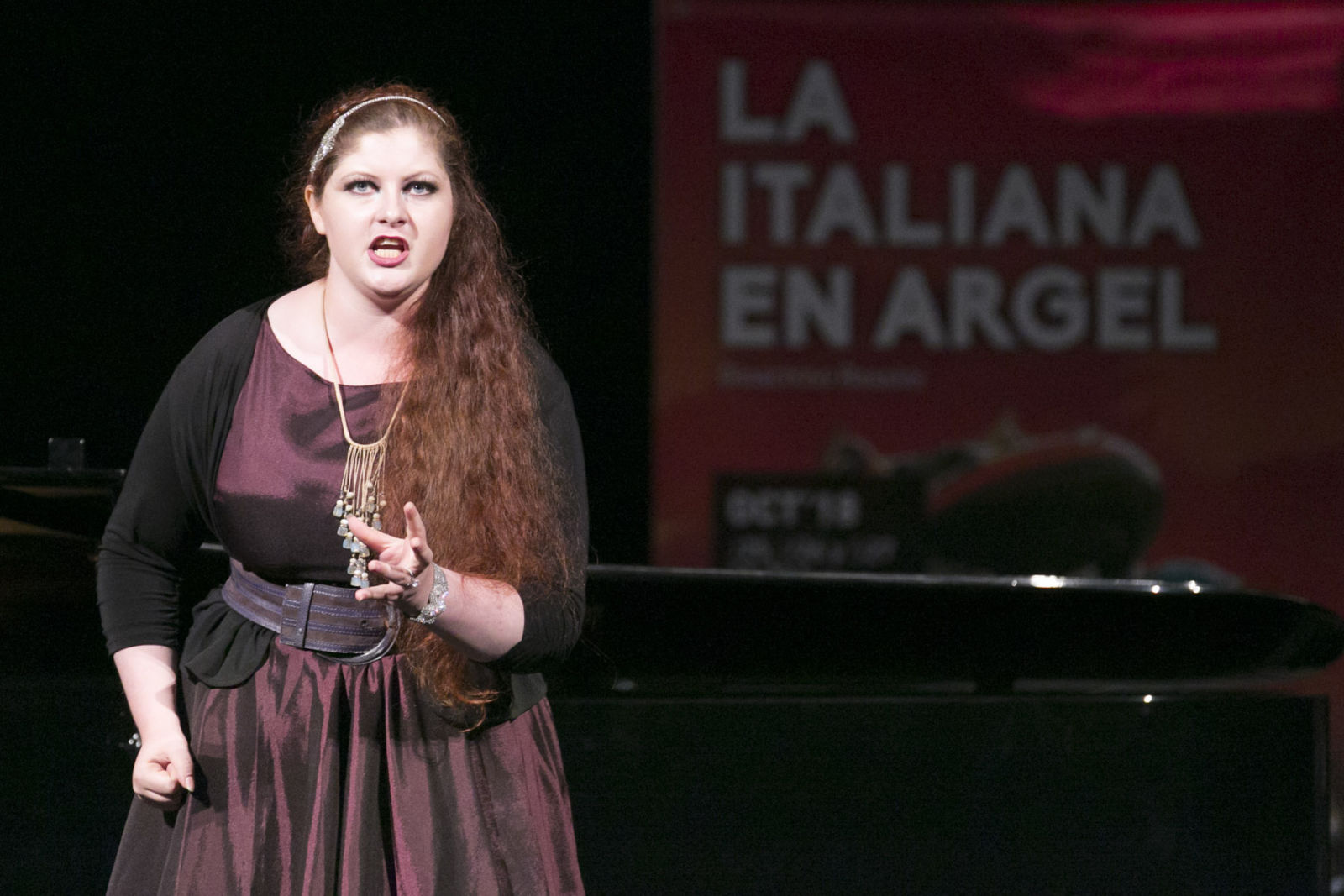Maria Ostroukhova durante su recital de Opera (e)Studio