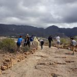 """Foto de la limpieza del """"Camino de la Virgen"""" por parte del alumnado de la ULL en Adeje"""