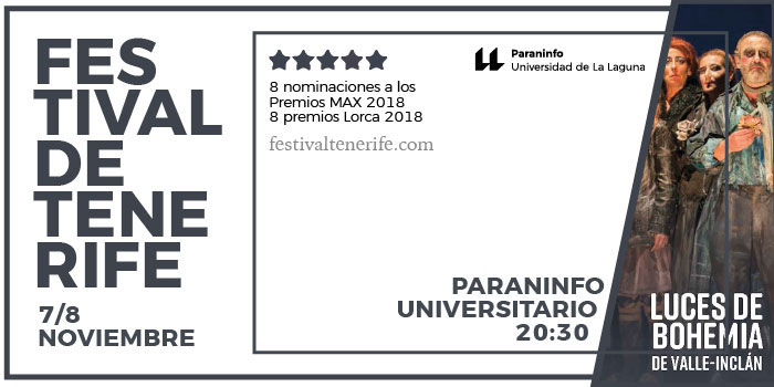 """Cartel de la obra teatral """"Luces de Bohemia"""" que tendrá lugar en el Paraninfo"""