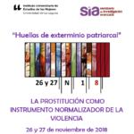 Cartel del seminario sobre la prostitución como instrumento normalizador de la violencia