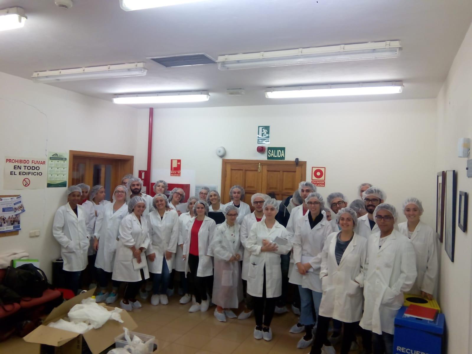 Foto de la visita de alumnado en prácitcas de 4º de Farmacia