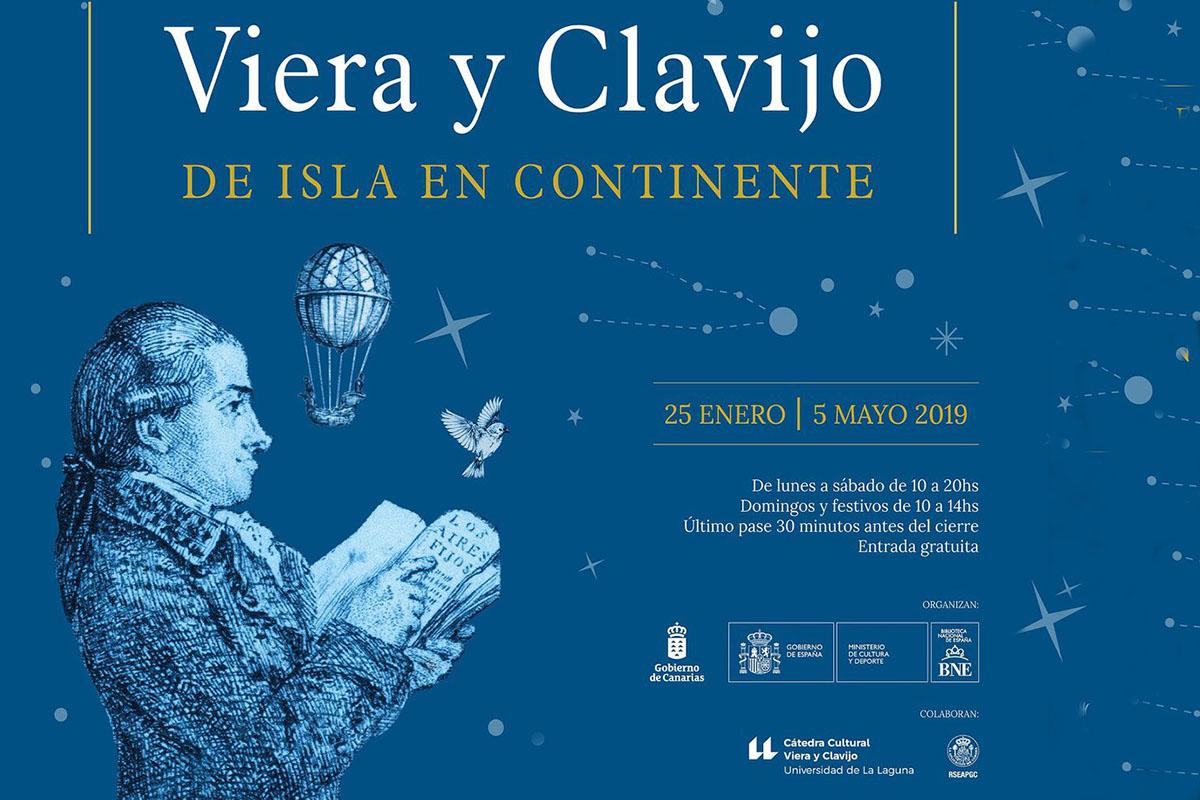 Inaugurada una exposición sobre Viera y Clavijo en la Biblioteca Nacional con la colaboración de la ULL