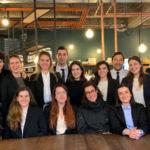 Fotografía de los estudiantes del MIC en Bruselas