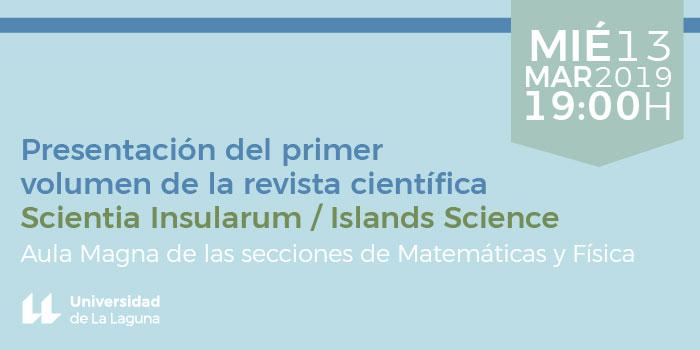 Presentación de la revista Scientia Insularum