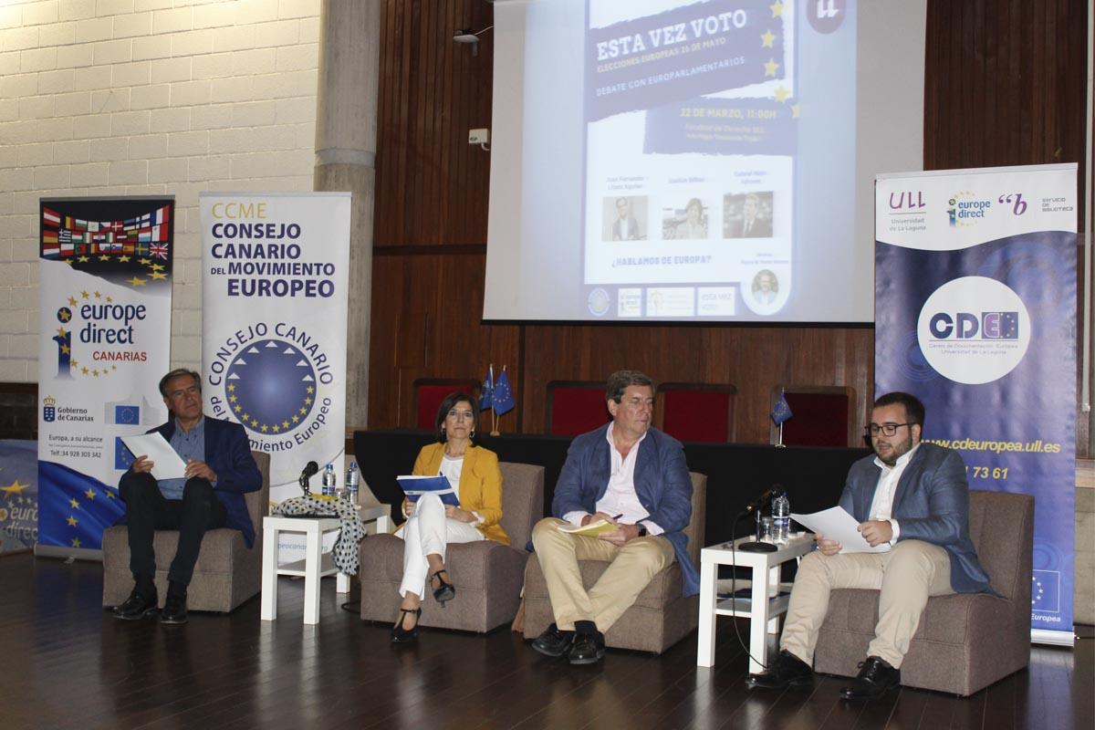 Fotografía del debate de eurocandidatos de #estavezvoto