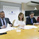 Foto de la firma entre las universidades y el Gobierno de Canarias