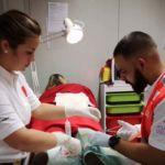 Foto de las prácticas del alumnado del Grado de Enfermería