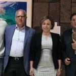 Francis Pérez, Casimiro Curbelo, Rosa Aguialr y Joaquín Araujo, durante la inauguración de la Universidad de Verano de La Gomera.