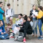 Estudiantes a punto de comenzar la EBAU en la convocatoria de junio de 2019.