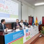 De izquierda a derecha, el investigador principal del proyecto IMPLAMAC, el vicerrector de Investigación y Transferencia, la decana de Ciencias y el alcalde de Arico.