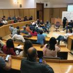Imagen de una de las sesiones de este seminario sobre senderismo