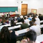 Imagen de archivo de estudiantes durante la EBAU de 2019.