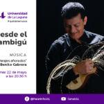 Anuncio del recital de Benito Cabrera