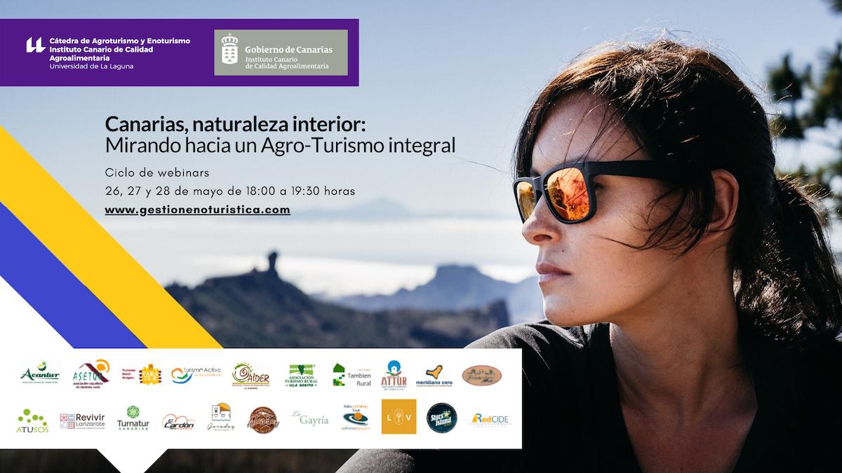 Cartel de estos webinar sobre turismo interior