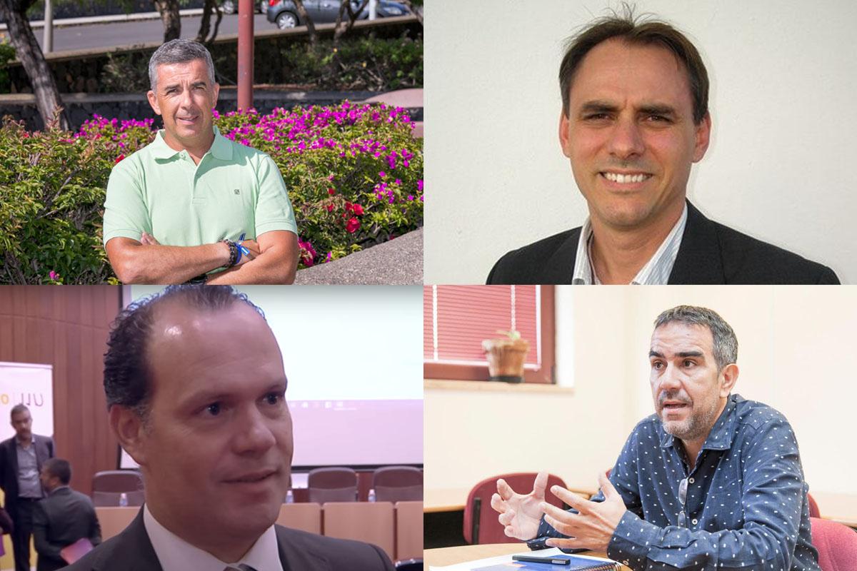 De arriba a abajo y de izquierda a derecha, Eduardo Parra, Carlos Fernández, Moisés Simancas y Raúl Hernández.