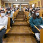 Estudiantes que relaizaron los exámenes de la EBAU en el Campus de Anchieta
